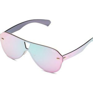 NWT QUAY Sunglasses STAY AFLOAT xFUNBOY Pink +Bag
